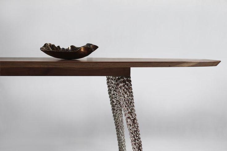 Solid wood table Ceramics 8 - solid walnut and ceramics legs.