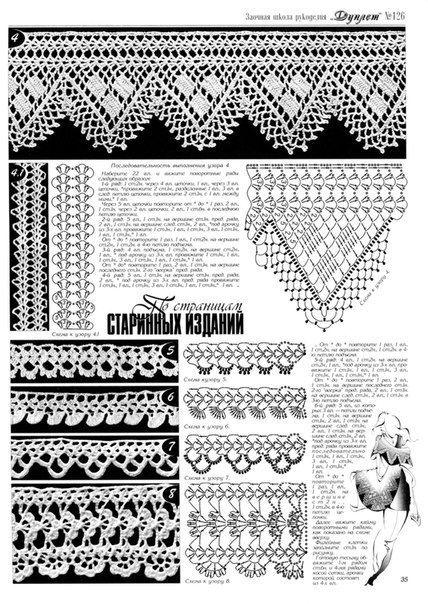 crochet lace patterns ...♥ Deniz ♥