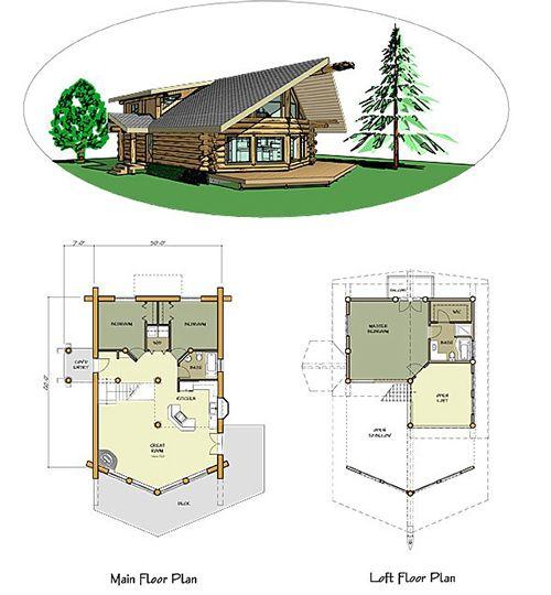 Проект рубленного дома из бревна-The Loveland 2