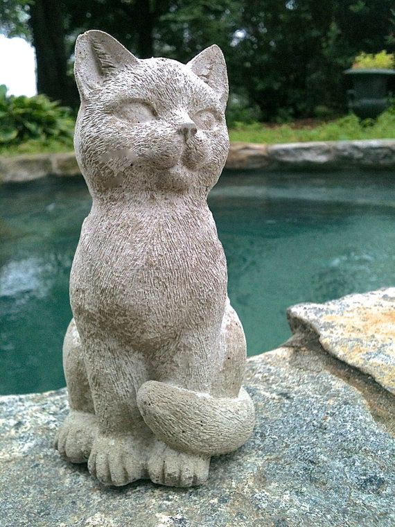 Exceptional Cute Sitting Cat Statue, Concrete Garden Decor, Cat Memorial Statue,  Concrete Cat Statues, Memorial For Cat