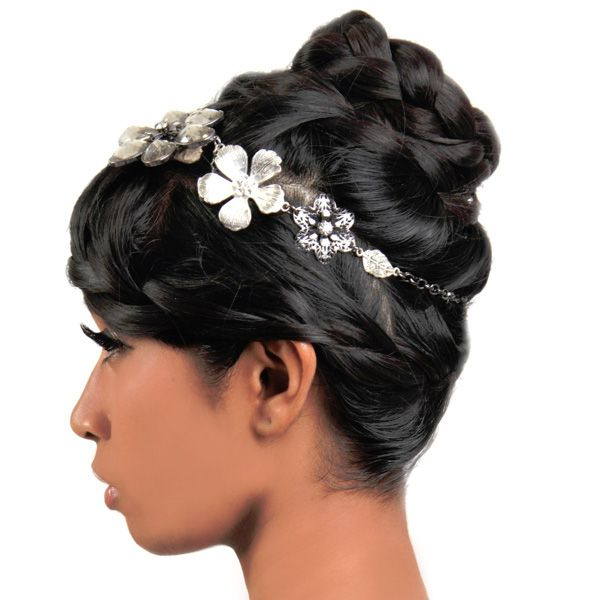 15 best hair styles images on pinterest wedding hairstyles for black women silver flower crown braid bun pmusecretfo Choice Image