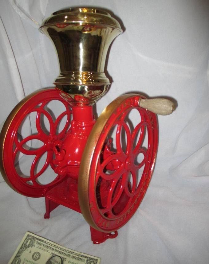 "c1873 Victorian Enterprise #3 Coffee Mill Grinder 11"" wheel diameter #ENTERPRISEMANUFACTURINGCO"
