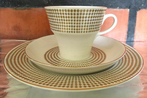 ARABIA OF FINLAND Vintage Rio Cup Saucer by Nordicvintagedesigns