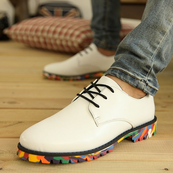 >> Click to Buy << New Popular Round Toe Lace Up Male Oxfords Fashion Clourful Outsole Man Business Casual Leather Shoes #Affiliate