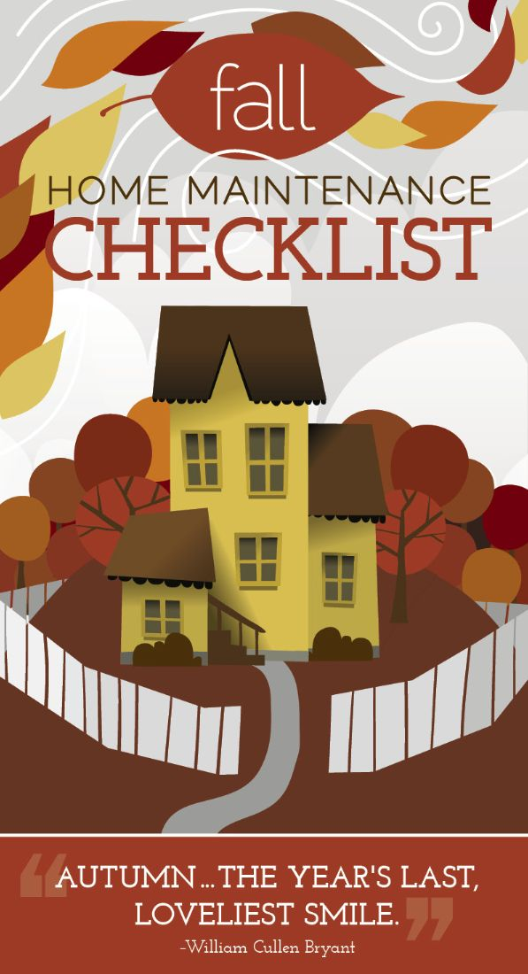 Fall home maintenance checklist. [INFOGRAPHIC] http://www.angieslist.com/articles/fall-home-maintenance-checklist.htm