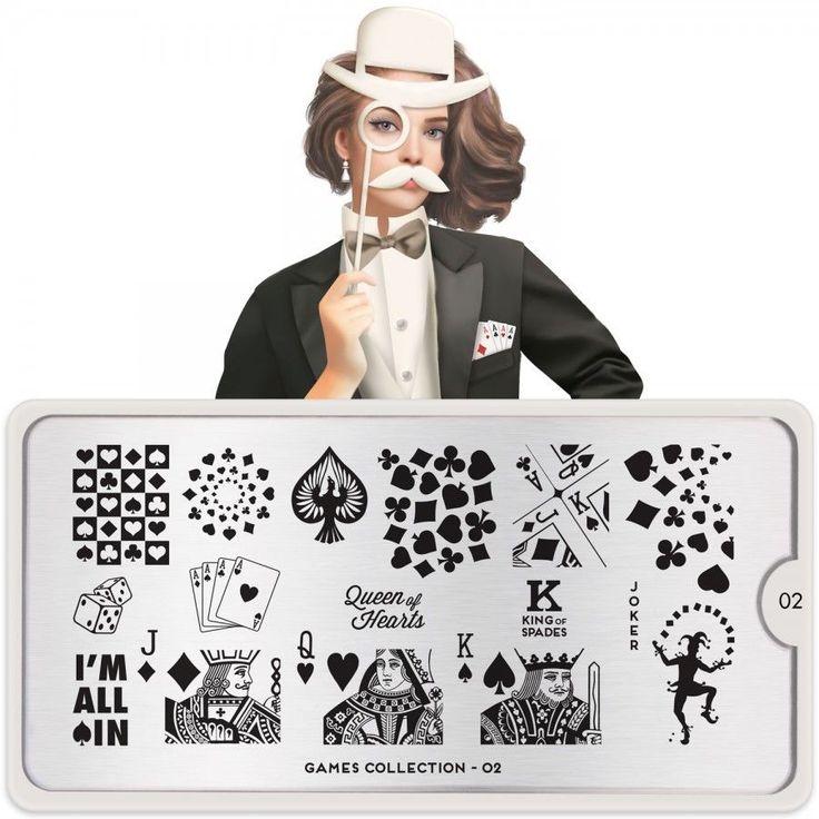MoYou London Stamping Schablone *Games Collection 2* 02 Poker Joker Karte