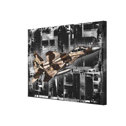F-15 Eagle Stretched Canvas Print - decor gifts diy home & living cyo giftidea