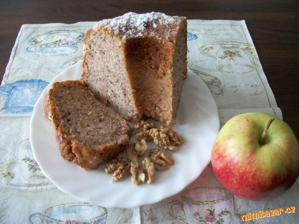 Bábovka s jablky a ořechy- rychlá