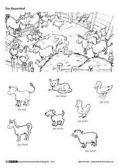 Download als PDF Natur Bauernhof Haustiere Nutztiere