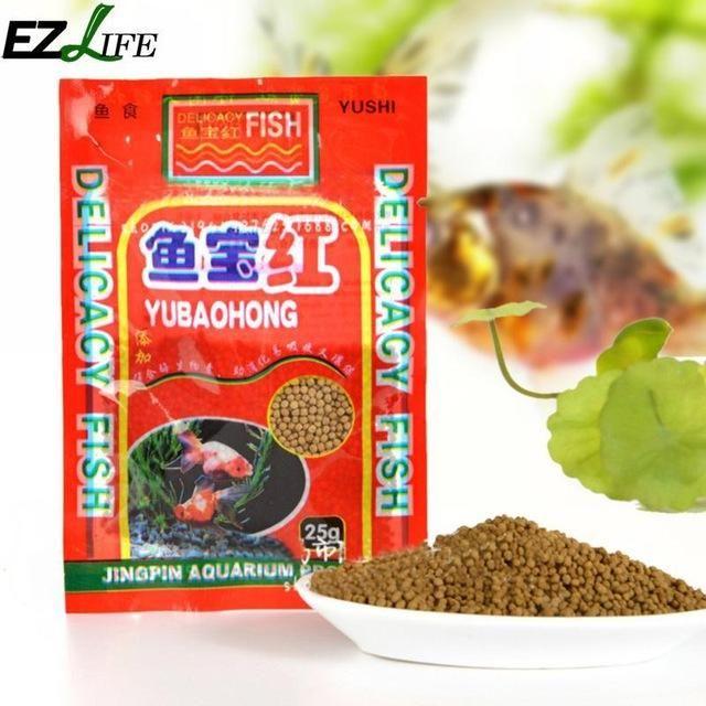 EZLIFE 10 Bags 12g Aquarium Fish Food Small Fish Feed Hot Sale Goldfish Tropical Fish Love To Eat Delicious Food PXP3754 #109