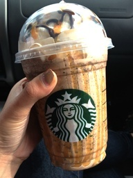 Starbucks Snickers Frap!!! If your local starbucks doesn't know how to make it, Ask for: Java Chip Frappuccino with two pumps of toffee nut and a caramel  chocolate drizzle