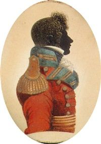 An officer (John Day- 49th Regiment?), profile to the right, in a red jacket with green facings, 1815. He joined the 49th as Ensign in 1803. Present in Canada from June 1814 to February 1815 as a Captain. Plattsburgh campaign. Died in 1843. Artist: John Buncombe