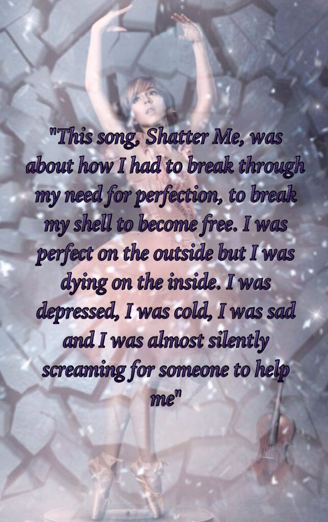 Sad. Lindsey had trouble with anorexia. She got through it. Shatter Me was about that dark time.