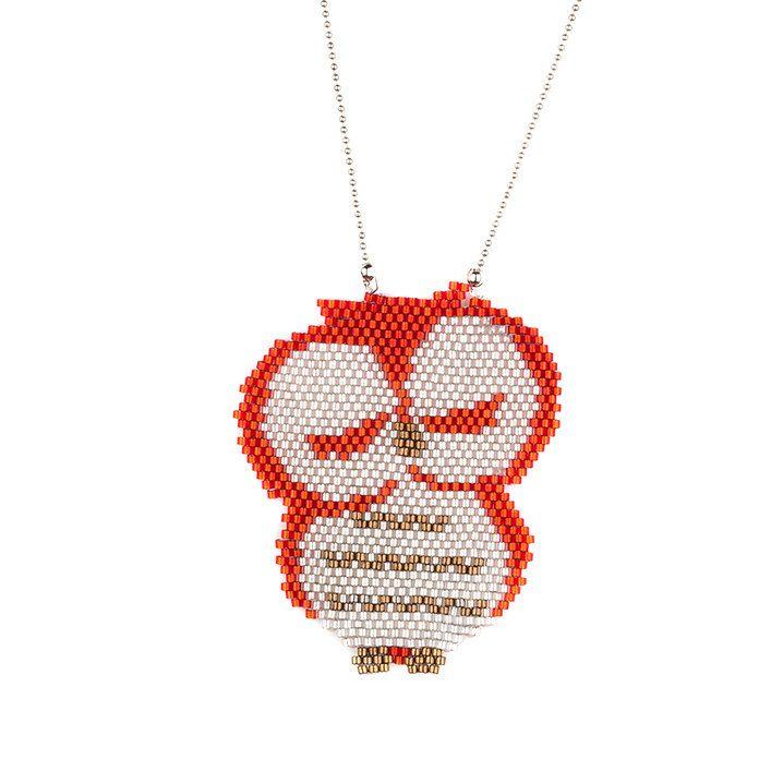 Beaded Owl Necklace Owl Miyuki NecklaceMiyuki por SinezarHandmade