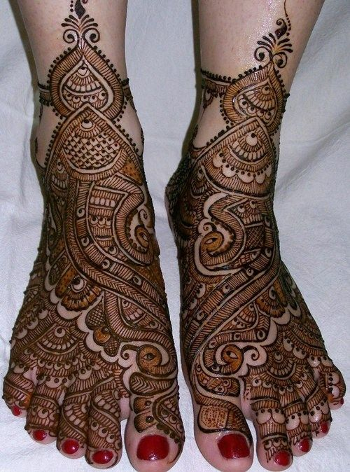 Indian Bridal Mehndi Designs For Feet