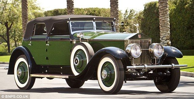 Classic style: The Rolls Royce Phantom given to screen icon Marlene Dietrich in 1930 after featuring in the film Legends is expected to fetch £350,000 at auction