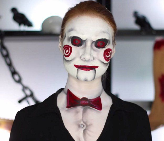 1.Billy the Puppet (Saw) | 10 DIY Movie-Inspired Makeup Tutorials for Halloween