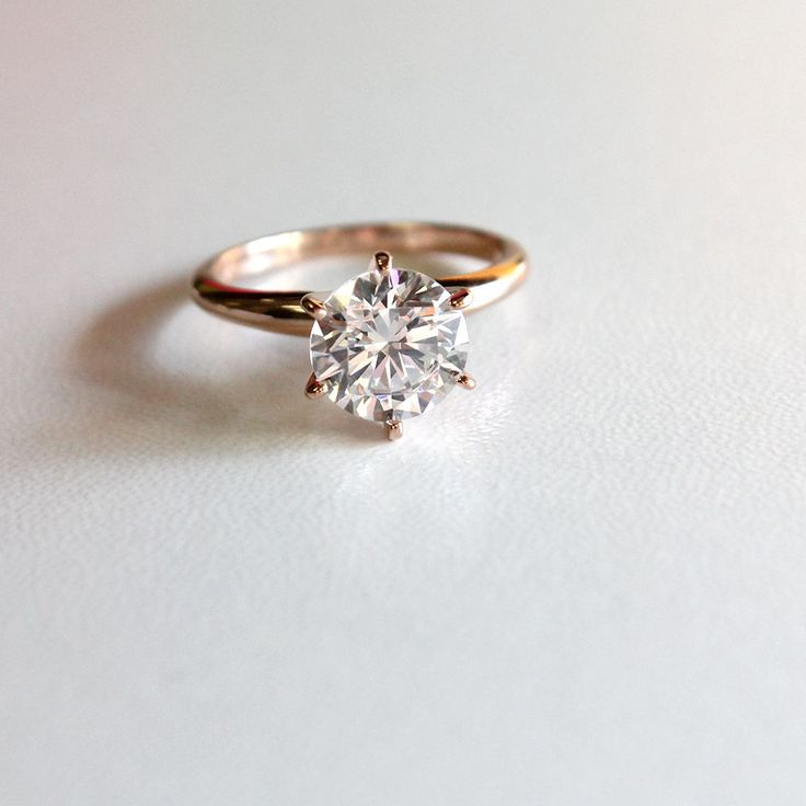 The Traditional Solitaire Engagement Ring is inspired by the Tiffany Solitaire Engagement Ring.