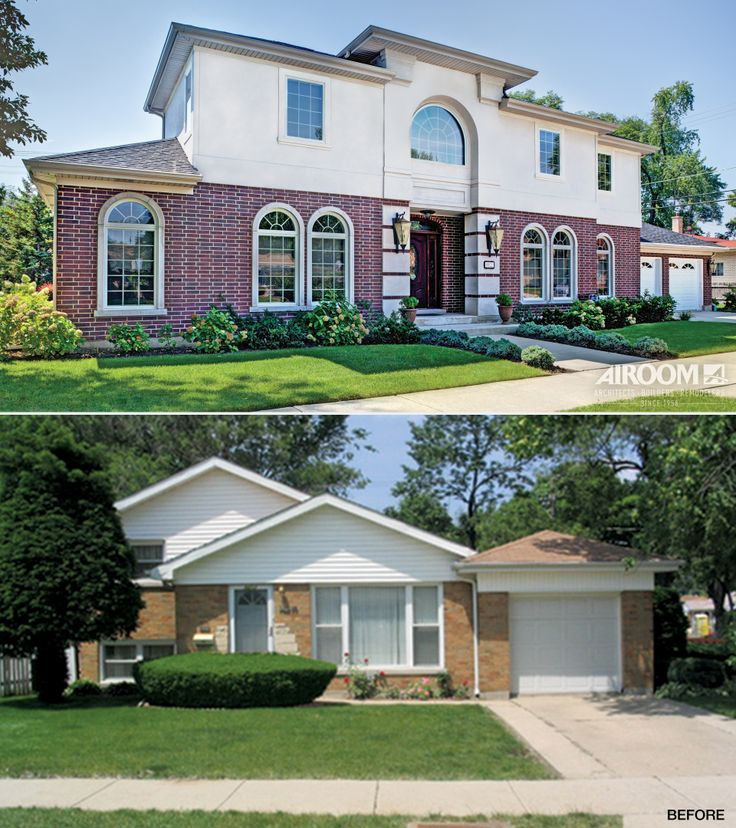 24 best images about before and afters exteriors on for Adding an addition to a split level home