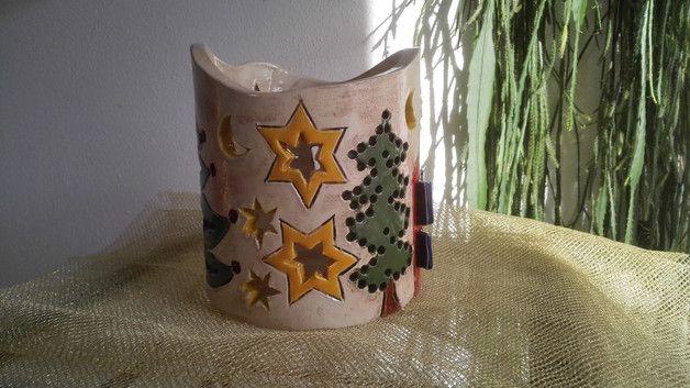 Bezauberndes, handgearbeitetes Windlicht aus Keramik. Dieses Windlicht ist ein absoluter Blickfang für Haus, Garten, Terrasse…. Geben Sie diesem Keramik-Einzelstück ein ganz besonderes Plätzchen....