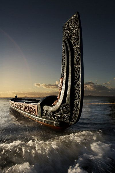 Maori Waka (Traditional war canoe), New Zealand