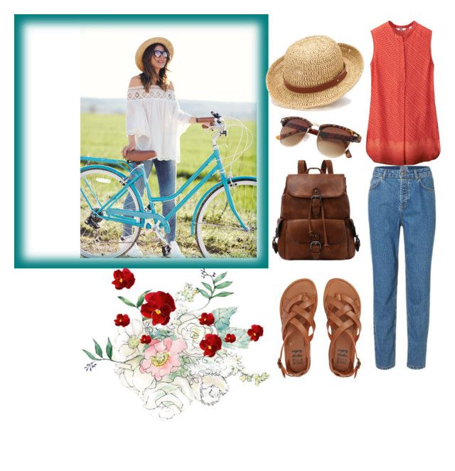 """Sunday in the countryside"" by chrysapan on Polyvore featuring Uniqlo, Billabong, Chaps and country"