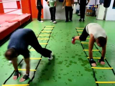 fitness bootcamp agility ladder drills   There's a few fun drills in here, the rest are pretty standard.