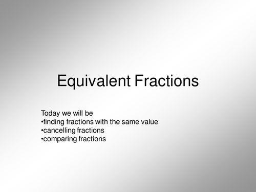 KS2, KS3 or KS4 Revision; Equivalent Fractions; lots of presentations, activities, worksheets.