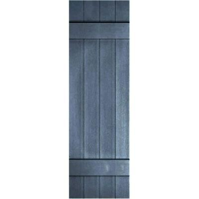 four board joined shutters pair blue the home depot - Shutters Home Depot
