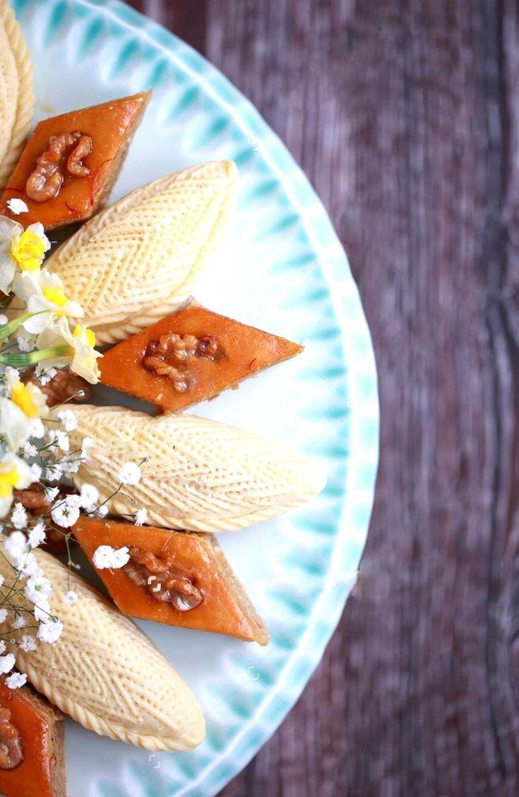 Happy Novruz Food Crafts Blue Cake Stand Desserts