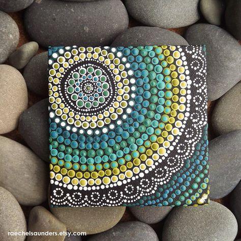 Aboriginal kunst Dot Painting kleine originele door RaechelSaunders