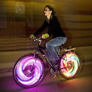 Bike Wheel Lights - If you like to bike at night and want to make sure you'll always be seen by oncoming traffic then these LED Bike Wheel Lights are for you. Along with providing safety