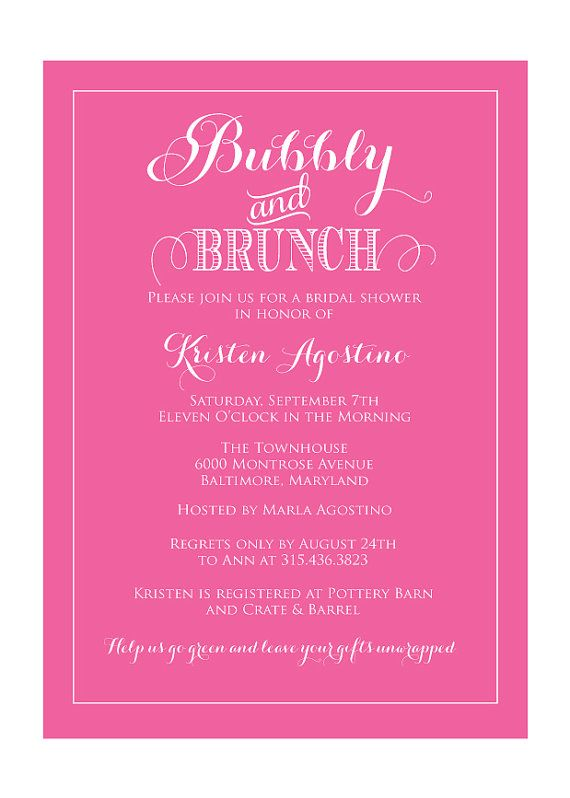 Bridal Brunch Shower Invitations can inspire you to create best invitation template