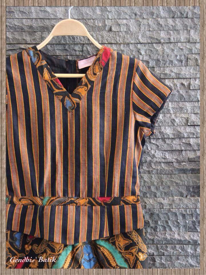 Batik Sogan halus + tenun lurik Sorjan + Lining Tricot, by Gendhis Batik