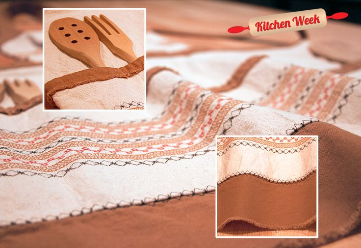 Scandinavian Style Rustic Apron with Decorative Stitching | Sew4Home