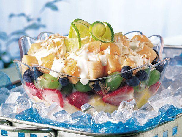 Layered Yogurt Fruit Salad (Gluten Free)This was supper ...