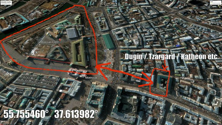 Moscow. Kreml. Alexandr Dugin's office and Katheon etc propeganda centre is only 480m from Kreml.