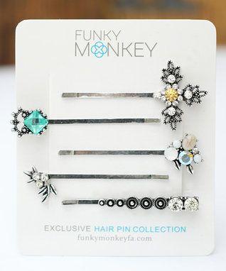 Silvertone Vintage Glam Bobby Pin Set