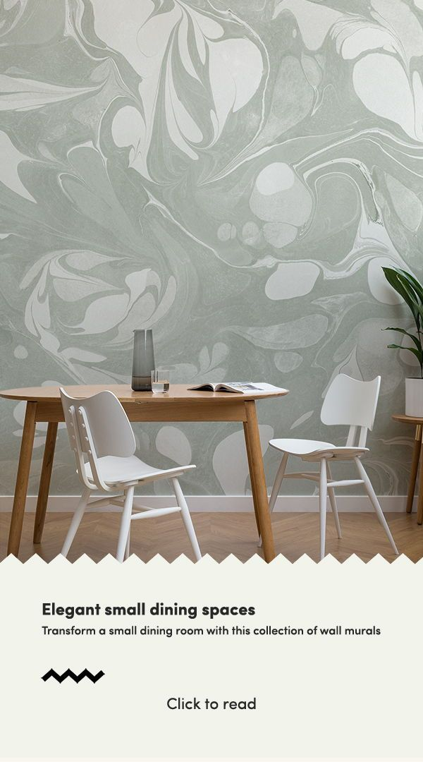 Complete A Beautiful Dining Room Decor With These Small Dining Room Ideas And Make A Small Spaces Appe Dining Room Murals Feature Wall Wallpaper Room Wallpaper