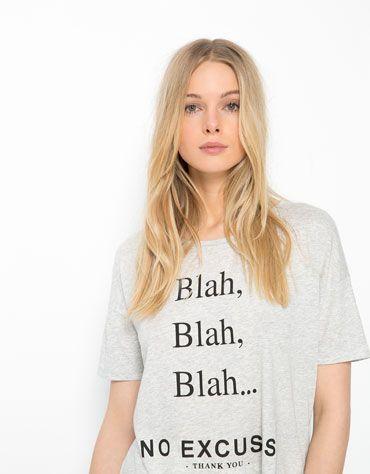 Bershka España - Camiseta Bershka texto