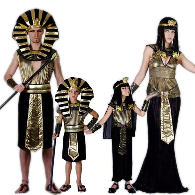 Deals For $13.22, Buy Egyptian Pharaoh Costumes For Purim Halloween Party Adults Clothing Egyptian Pharaoh King Men Fancy Dress