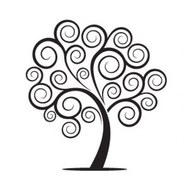 drawings of trees | Swirly Tree | Download free Vector