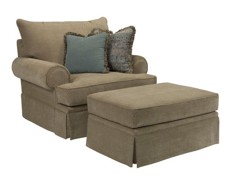 Conlins Furniture Chair Ottoman Set Broyhill