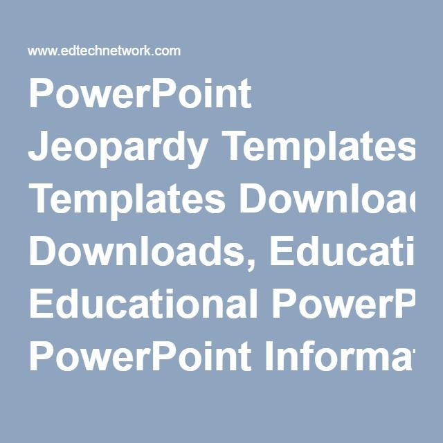 129 best POWERPOINT PRESENTATION images on Pinterest - blank jeopardy template