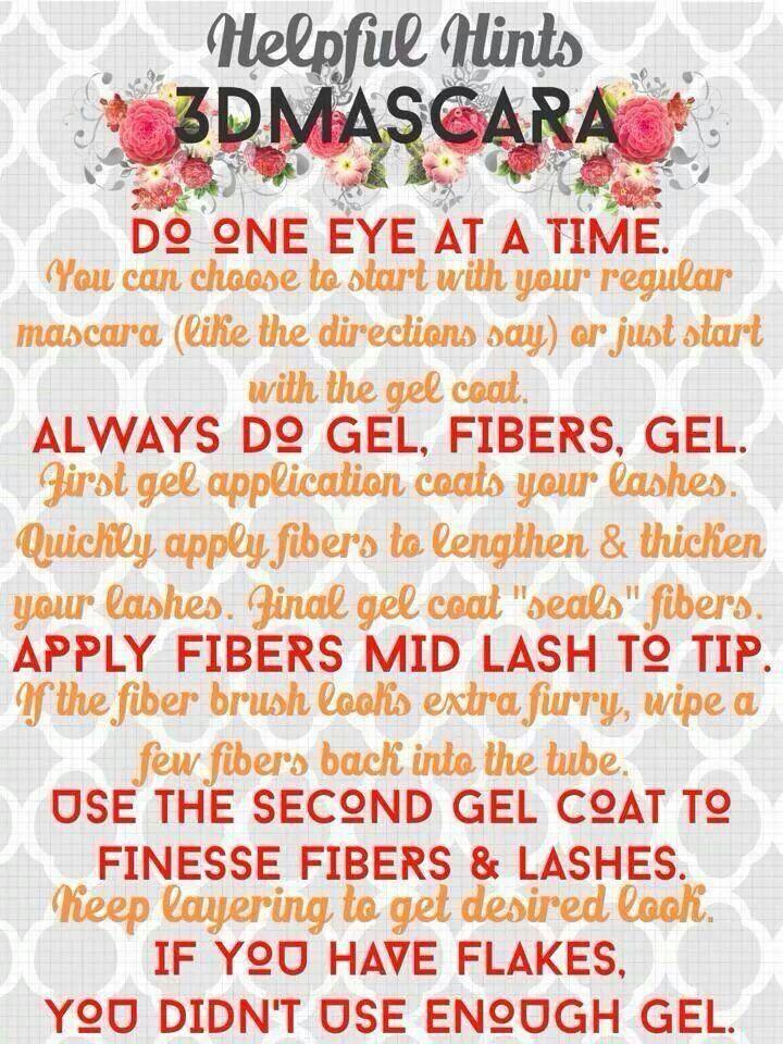 Use this easy guide for applying 3D Fiber Lash Mascara! Buy here: www.lash-swag.com