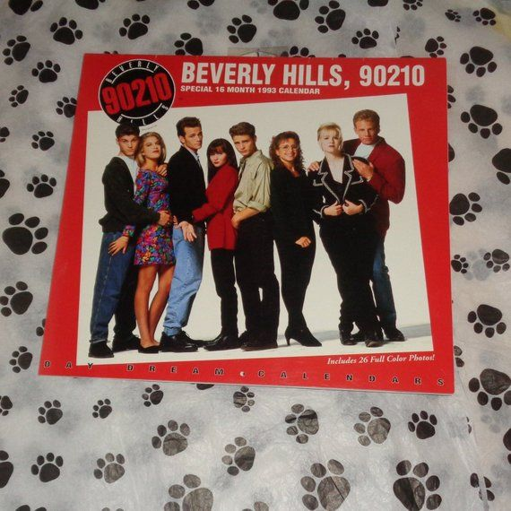 Extremely Rare Beverly Hills 90210 1993 Official 16 Month