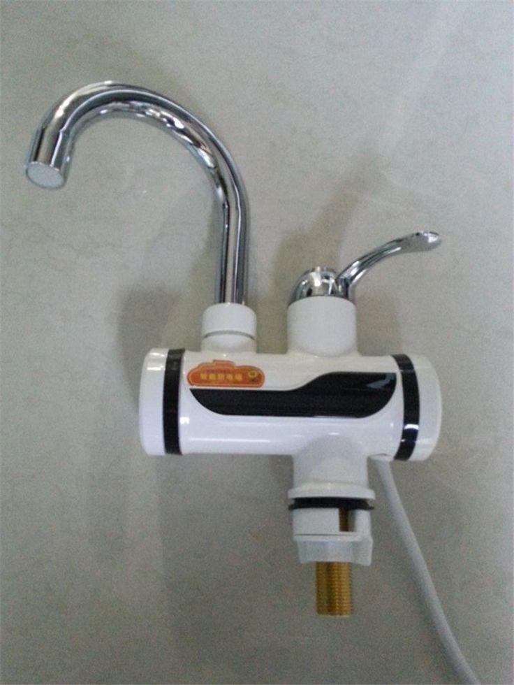 BDI3000W-16, envío libre, Indicador de luz Grifo de Agua Caliente Instantánea, Sin Tanque Calentador Eléctrico Grifo, Grifo de la Cocina Del Calentador de Agua, con LA UE plu