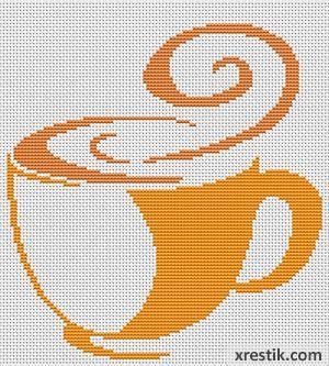 Kofe----11300 Схема для вышивки scheme for cross stitch