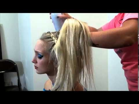 Braided Hair - How to prepare for Cheerleading Competition Jupiter, FL - YouTube
