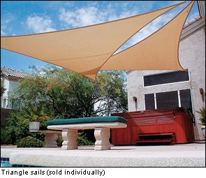 Coolaroo Shade Sails - Lee Valley Tools I've been wondering where to buy these around here!